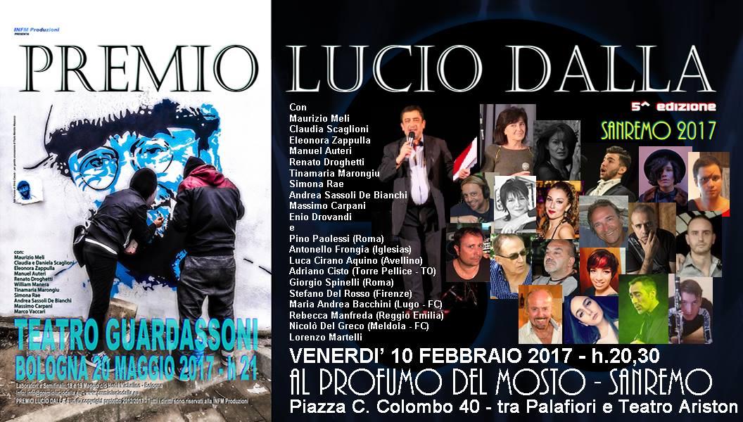 Il Premio Lucio Dalla arriva a Sanremo 2017!