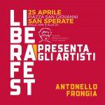25 aprile, LiberaFest Web con Antonello